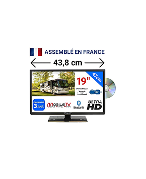 Télévision mobile Combi DVD 12/24 V 47 Cm Mobile TV Silverline19DVD