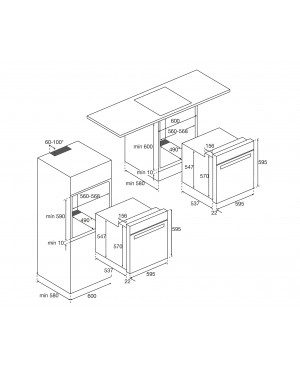 Four multifonction catalyse Inox AIRLUX AFC106IX