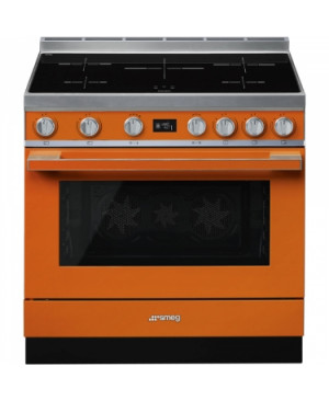 Centre De Cuisson 90 cm Piano Portofino Induction Orange SMEG CPF9IPOR