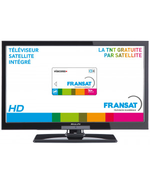 Téléviseur Tuner satellite HD 12V / 220V MOBILE TV MTV19SAT Fransat HD