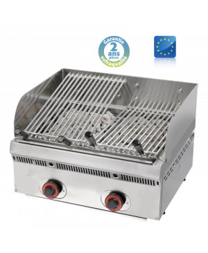 Wood Steak Grill Gaz pierre de lave SOFRACA PBV60